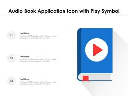 Audio Book Application Icon With Play Symbol