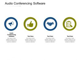 Audio Conferencing Software Ppt Powerpoint Presentation Model Demonstration Cpb