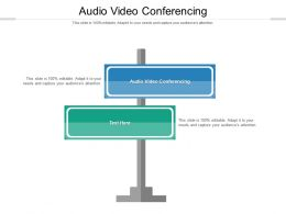 Audio Video Conferencing Ppt Powerpoint Presentation Layouts Graphics Tutorials Cpb