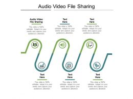 Audio Video File Sharing Ppt Powerpoint Presentation Ideas Themes Cpb