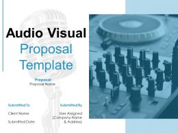 Audio Visual Proposal Template Powerpoint Presentation Slides