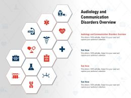 Audiology And Communication Disorders Overview Ppt Powerpoint Presentation Pictures