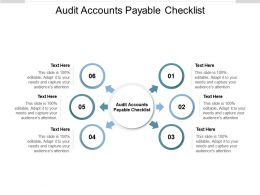 Audit Accounts Payable Checklist Ppt Powerpoint Presentation Visuals Cpb