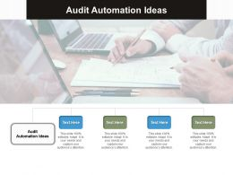 Audit Automation Ideas Ppt Powerpoint Presentation Infographics Designs Download Cpb