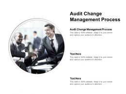 Audit Change Management Process Ppt Powerpoint Presentation Infographic Template Graphics Cpb