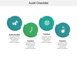 Audit Checklist Ppt Powerpoint Presentation File Icon Cpb
