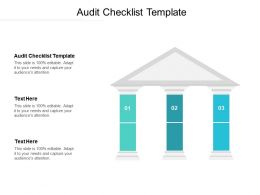 Audit Checklist Template Ppt Powerpoint Presentation Icon Guidelines Cpb
