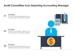 Audit Committee Icon Depicting Accounting Manager