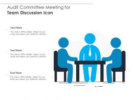 Audit Committee Meeting For Team Discussion Icon