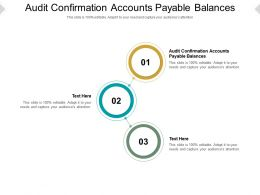 Audit Confirmation Accounts Payable Balances Ppt Powerpoint Presentation Inspiration Designs Cpb