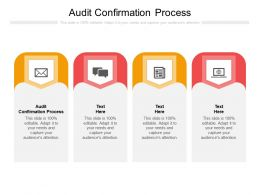 Audit Confirmation Process Ppt Powerpoint Presentation Styles Example Cpb