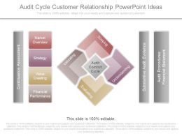Audit Cycle Customer Relationship Powerpoint Ideas