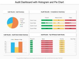 Audit Dashboard With Histogram And Pie Chart