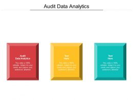 Audit Data Analytics Ppt Powerpoint Presentation Infographic Template Slideshow Cpb