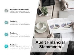 Audit Financial Statements Ppt Powerpoint Presentation Icon Guide Cpb