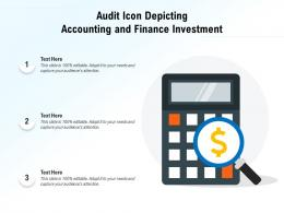 Audit Icon Depicting Accounting And Finance Investment