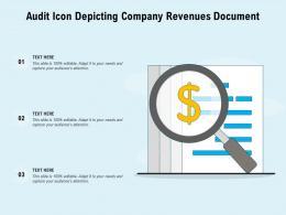 Audit Icon Depicting Company Revenues Document