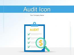 Audit Icon Finance Investment Revenues Document Verification Opportunity