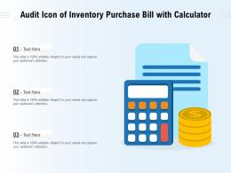 Audit Icon Of Inventory Purchase Bill With Calculator