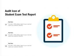 Audit Icon Of Student Exam Test Report