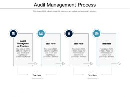 Audit Management Process Ppt Powerpoint Presentation Gallery Slides Cpb