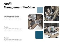 Audit Management Webinar Ppt Powerpoint Presentation Gallery Icon Cpb