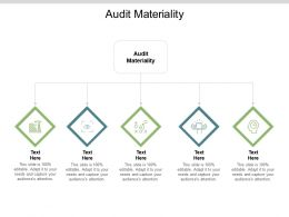Audit Materiality Ppt Powerpoint Presentation Icon Objects Cpb