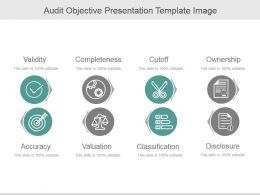 Audit Objective Presentation Template Image