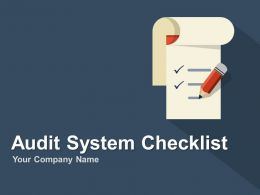 Audit Of Business Systems With Checklist PowerPoint Presentation With Slides