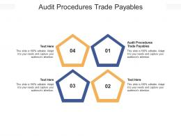 Audit Procedures Trade Payables Ppt Powerpoint Presentation Gallery Example File Cpb