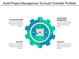 audit_project_management_5s_audit_checklist_portfolio_analysis_tool_cpb_Slide01