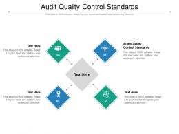 Audit Quality Control Standards Ppt Powerpoint Presentation Gallery Portfolio Cpb