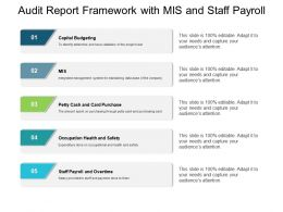 Audit Report Framework With Mis And Staff Payroll