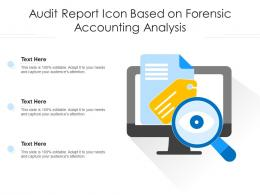Audit Report Icon Based On Forensic Accounting Analysis
