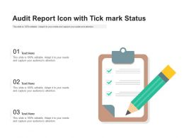 Audit Report Icon With Tick Mark Status