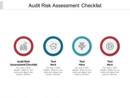 Audit Risk Assessment Checklist Ppt Powerpoint Presentation Ideas Graphic Images Cpb