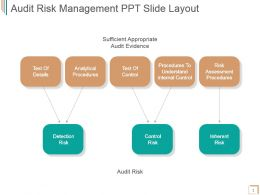 Audit Risk Management Ppt Slide Layout