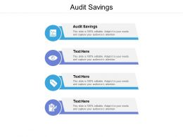 Audit Savings Ppt Powerpoint Presentation Layouts Layout Ideas Cpb