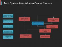Audit System Administration Control Process Sample Of Ppt