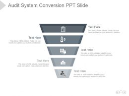 Audit System Conversion Ppt Slide