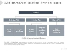 Audit Test And Audit Risk Model Powerpoint Images