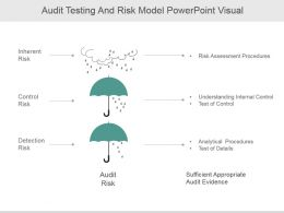 Audit Testing And Risk Model Powerpoint Visual