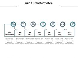 Audit Transformation Ppt Powerpoint Presentation File Clipart Images Cpb
