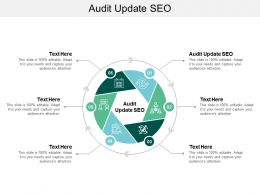 Audit Update SEO Ppt Powerpoint Presentation Slides Template Cpb