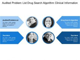 Audited Problem List Drug Search Algorithm Clinical Information