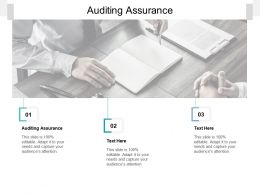 Auditing Assurance Ppt Powerpoint Presentation File Model Cpb