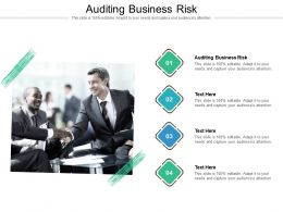 Auditing Business Risk Ppt Powerpoint Presentation Infographic Cpb