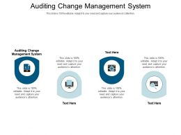 Auditing Change Management System Ppt Powerpoint Presentation Model Images Cpb