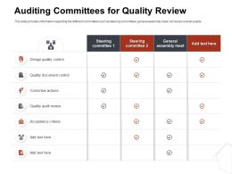 Auditing Committees For Quality Review General Ppt Model