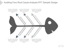 Auditing Flow Root Cause Analysis Ppt Sample Design